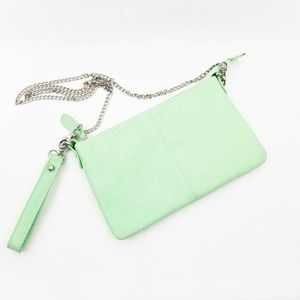 Charming Charlie Mint Green Cross Body/Clutch J28